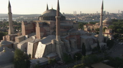 Aerial view of Istanbul - Hagia Sophia - stock footage