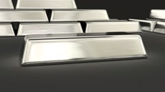 Animated fine bar of silver around 360 2 Stock Footage
