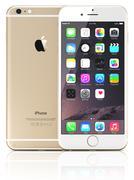 Apple gold iphone 6 - stock illustration