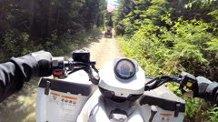 POV Time lapse ATV driving Off road Quad bike sport activity Canada - stock footage