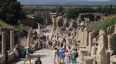 Wide shot of Ephesus Turkey Stock Footage