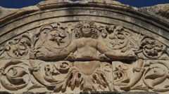 Relief of Tyche (Goddess of Victory) - stock footage
