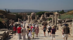 Curetes Street in Ephesus Turkey Stock Footage