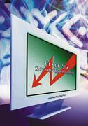 "Computer, ""Server Overloaded"" message on screen, digital composite. Stock Photos"