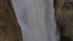 Lower Yellowstone Falls from Uncle Tom's Trail in Yellowstone National Park Stock Footage