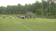 Extra point kick good day game medium shot Stock Footage