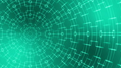 Abstract loop motion background, kaleidoscope green light Stock Footage