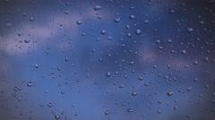 Rainy days,Rain drops on window,rainy weather Stock Footage