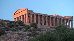 Valley of the Temples at Agrigento. Temple of Concordia. Sicily Stock Footage