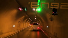 Movement in the tunnel of the Turkey State Road D400. Stock Footage