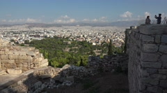 Temple of Hephaestus Agora from Acropolis Athens Greece 4K 025 Stock Footage
