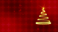 Christmas tree, abstract loop motion background Stock Footage