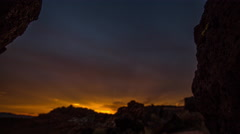 4K Time Lapse of Sunrise over a Desert Landscape Stock Footage