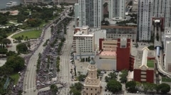 Miami Heat Downtown Championship Celebration Parade - stock footage