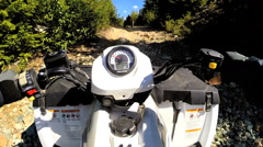 POV ATV driving Off road Quad bike sport activity Canada Stock Footage