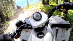 POV Quad bike drive ATV transport 4x4 adventure vehicle travel Canada - stock footage