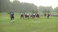 Long pass downfield for a touchdown Stock Footage