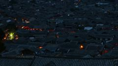4K UHD Time lapse of Night life in old town Lijiang in Yunnan province, China Stock Footage