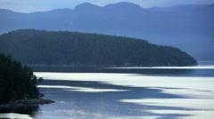 Coastal mountains Sunshine Coast sunset Vancouver vessel Vancouver Canada - stock footage