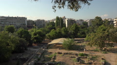 Anthens Greece Temple of Zeus Archaeology 4K 019 Stock Footage