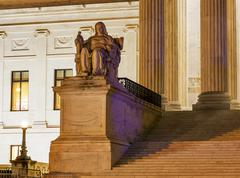 Us supreme court statue capitol hill washington dc Stock Photos