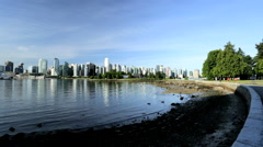Vancouver City Waterfront Canada Place Skyscrapers Harbor Canada - stock footage