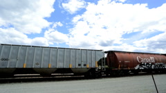Railroad Freight train Continental Northwest Wilderness Canada - stock footage