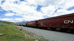 Canadian Pacific Railroad Freight train trans Continental British Columbia - stock footage
