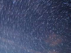 Stars around the pole star. TimeLapse. 640x480 Stock Footage