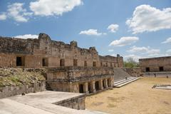 the nunnery building in uxmal - stock photo