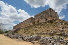 The governor's palace in uxmal,yucatan, mexico Stock Photos