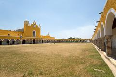 San antonio de padua franciscan monastery in izamal,yucatan,mexico Stock Photos