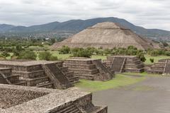 The pyramid of the sun Stock Photos