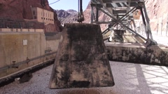 Hoover Dam Equipment - stock footage