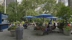 Flatiron Building Blue Umbrellas Manhattan New York City NYC Stock Footage