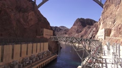 Hoover Dam - Bridge & Water Stock Footage