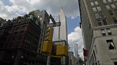 Empire State Building Street View Manhattan New York City NYC - stock footage