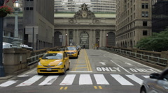 Park Ave Taxis Cabs Traffic Grand Central Midtown Manhattan New York City NYC Stock Footage