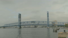 Main street bridge under maintenance 4k Stock Footage