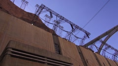 Hoover Dam Exterior - stock footage