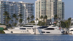Puerto Rico - two luxury yacht in marina Stock Footage