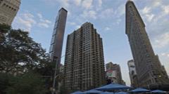 Empire State Building Flatiron 360 View Manhattan New York City NYC Stock Footage