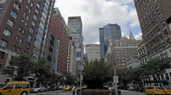 MetLife Chrysler Building Park Ave Midtown Manhattan Traffic New York City NYC Stock Footage