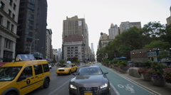 5th Ave Cars Taxi Cab Manhattan New York City NYC - stock footage