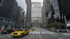 MetLife Building Park Ave Grand Central Traffic Taxis Cabs Manhattan NYC Stock Footage