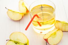 healthy nutrition juice fresh apples - stock photo