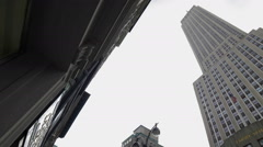 Empire State Building Manhattan New York City NYC Street View - stock footage