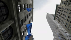 Empire State Building Street View 5th Ave Manhattan New York City NYC - stock footage