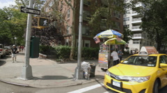 Washington Square Hot Dog Vendor Manhattan New York City NYC Summer Stock Footage