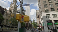 Empire State Building 29th St 5th Ave Manhattan New York City NYC Intersection - stock footage